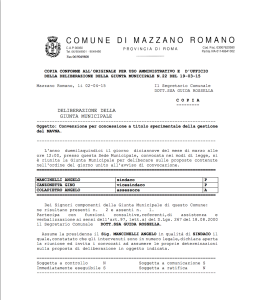 045.Association of Volunteers. Official Adoption of La Petrina by the Municipality of Mazzano Romano.1